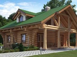 Деревянные дома и бани с дикого сруба