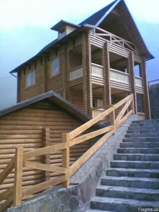 Деревянные дома из клееного бруса и оцилиндрованного бревна