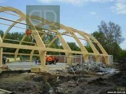 Деревянные гнуто-клеёные несущие конструкции