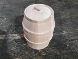 Деревянные кадки ( бочки ) из липы для меда 1.5 л