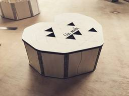 Деревянные коробка Сердце