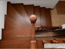 Деревянные лестницы, изготовление лестниц из дуба и ясеня