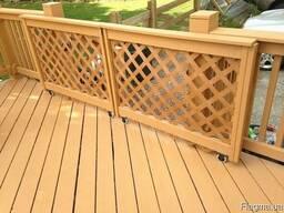 Деревянные ограждения(перила) для террас, балконов под заказ