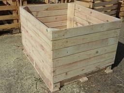 Деревянные разборные контейнера для овощей и фруктов.