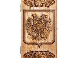 Деревянные резные нарды «Герб Армении»