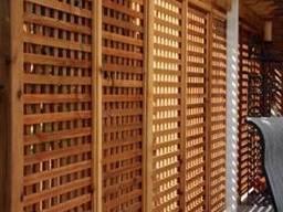 Деревянные ширмы и перегородки для зонирования под ключ