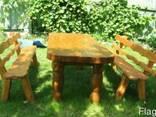 Деревянные столы стулья, скамейки - Дачная мебель, беседки. - фото 1