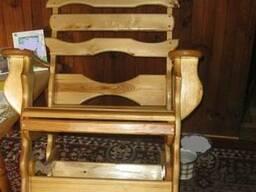 Деревянные столы стулья, скамейки - Дачная мебель, беседки. - фото 2