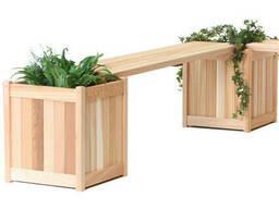 Деревянные вазоны - лавка для кустов и деревьев под заказ от производства, Одесса