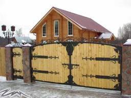 Деревянные ворота, калитки. Изготовление. Установка.