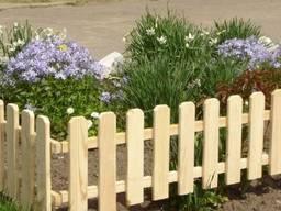 Деревянные заборчики для частного сектора, сада, клумбы - фото 3