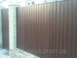 Забор из профнастила. Купить Профлист недорого Киев б/у