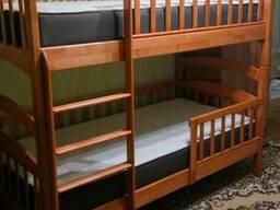 Детская двухъярусная кровать - Карина Люкс из дерева Ольха