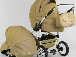 Детская коляска 2 в 1 Viki Saturn Victoria Gold бежевая