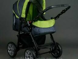 Детская коляска трансформер зима-лето карина зеленая/графит