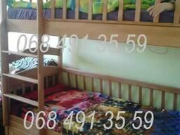 Детская кровать из дерева ольхи. Двухъярусная кровать Карина