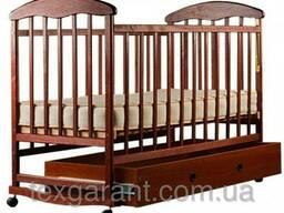 Детская кроватка Наталка ящик ясень темный