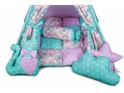 Детская палатка для дома вигвам Розовый, Мятный