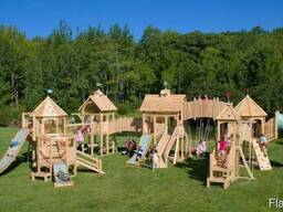 Детская площадка из дерева. Строительство под заказ