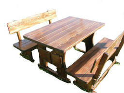 Детские деревянные столики со стульчиками и лавками