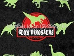 """Детские наклейки на стену""""Динозавры""""светящиеся в темноте 090"""