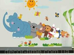 Детские наклейки на стену для детского сада (043)