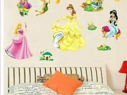 Детские наклейки на стены, для детского сада Принцесы (075)
