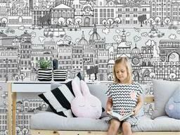 Флизелиновые фотообои купить в детскую комнату Город детей Kid City 150 см х 110 см