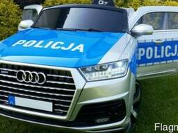 Детский электромобиль AUDI Q7- Полицейский - фото 3