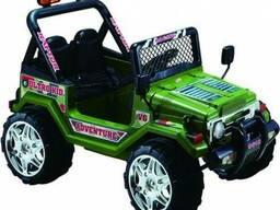 Детский электромобиль Jeep S618B- Зеленый