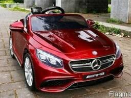 Электромобиль Mercedes Benz S63 AMG авто покраска бордо