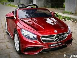 Детский электромобиль Mercedes Benz S63. Автопокраска бордо