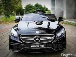 Детский электромобиль Mercedes Benz S63. Автопокраска чёрная