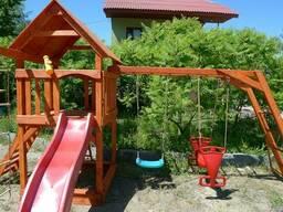 Детский игровой комплекс, площадка из дерева