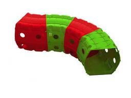 """Детский Игровой тоннель """"Тоннель 4 секции"""" Doloni TOYS (Красно-зеленый) (01471/3)"""