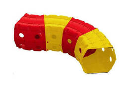 """Детский Игровой тоннель """"Тоннель 4 секции"""" Doloni TOYS (Красно-желтый) (01471/2)"""
