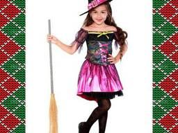 Детский карнавальный костюм Ведьмочки, Волшебница, утренник