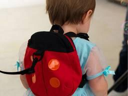 Детский мини-рюкзак с поводком Божья Коровка