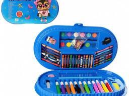 Детский набор для творчества MK 3918-1 в чемодане (Сова)