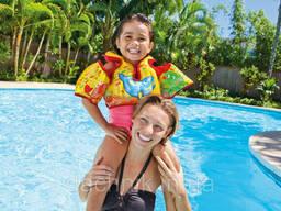 Детский надувной жилет для плавания с нарукавниками Аква 58673 Intex от 3 до 6 лет