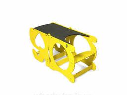 Детский столик трансформер ADV Башня Монтессори с меловой доской Желтый (ADV-TM-Y)