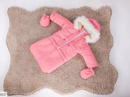 Детский зимний комбинезон тройка розовый SKL11-260899