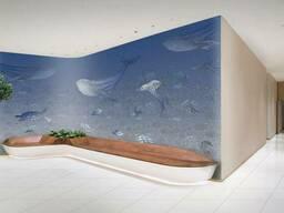 Дизайнерские фотообои в детскую комнату Морские жители Sea Life 150 см х 150 см