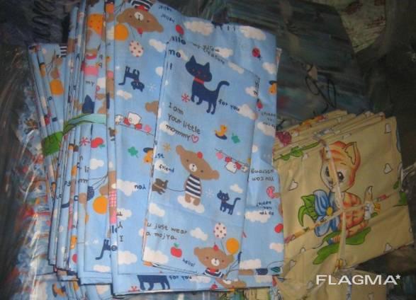 Детское постельное белье цветное 100х145 см