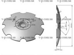 Диск Lemken rubin 620 мм, s-6мм вырезной-8зубьев