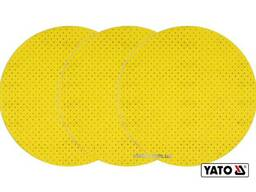 Диск шліфувальний перфорований на липучці до шліфмашини YATO G80 225 мм 3 шт