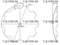Диск UNIA вырезной 510мм, s-4мм