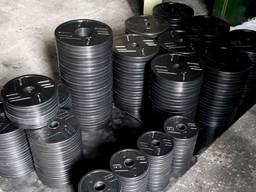 Диски обрезиненные для штанги 26, 5 мм или 51 мм. Цена ОПТ от 300 кг