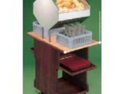 Диспенсер для хлеба, бокалов и разносов, передвижной, отделк