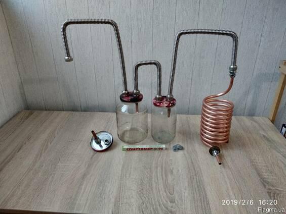Дистиллятор, самогонный аппарат непроточный медный змеевик